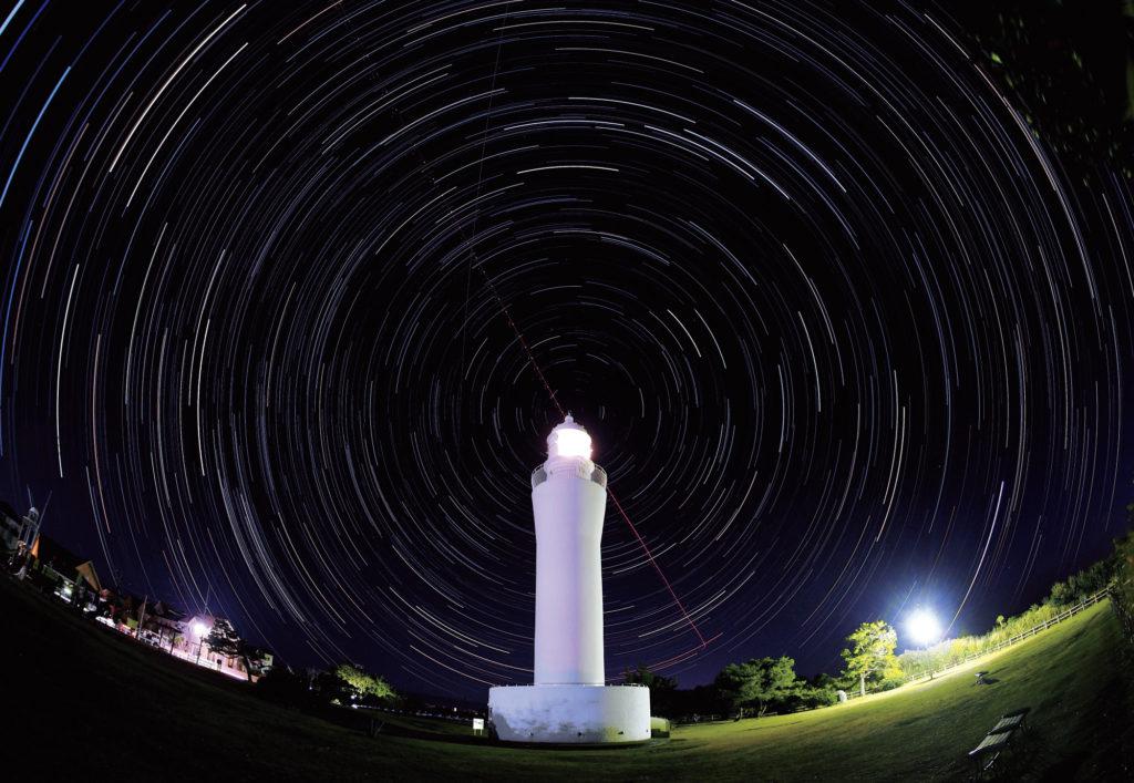 灯台を回る星